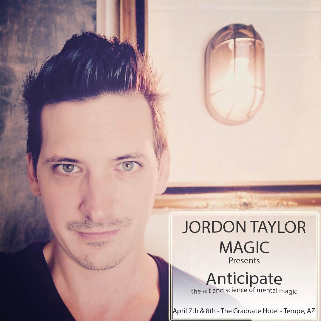 Jordon Taylor Magic Show Anticipate Promotional Photo